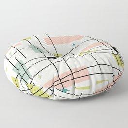 Mid Century Art Bauhaus Style Pastel Floor Pillow