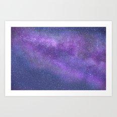 Deep Purple Milky Way Stars Art Print