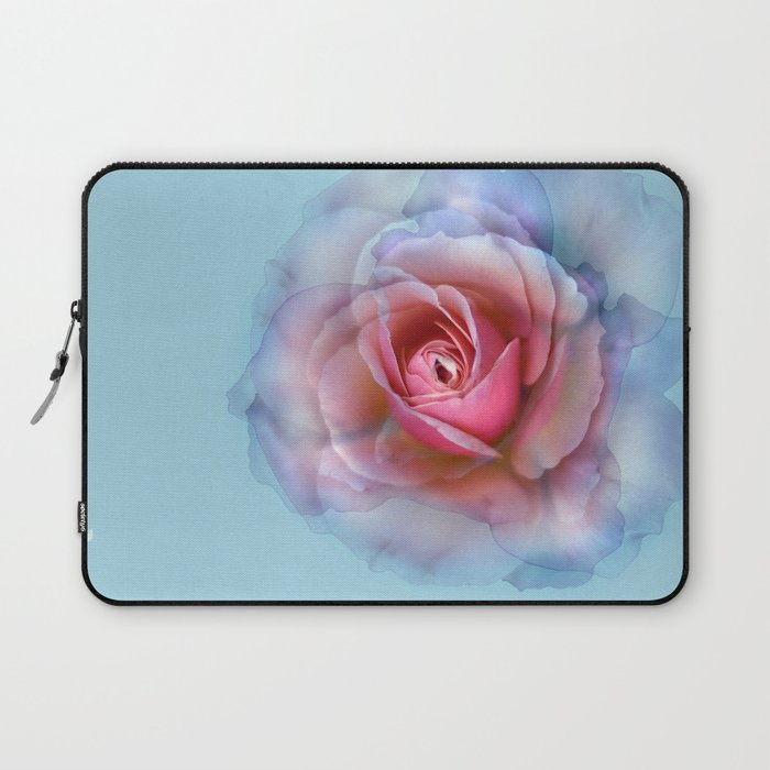 Bed of roses robin 39 s egg blue ghost laptop sleeve by for Bed tech 3000