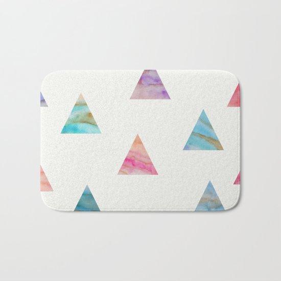 Marble Triangles Bath Mat