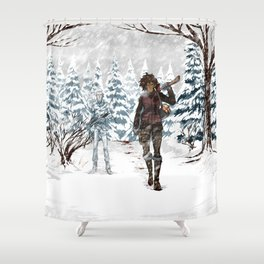 Under the Dead Skies - Snow Shower Curtain