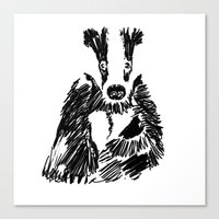 badger Canvas Prints featuring Badger by Digital Prophet