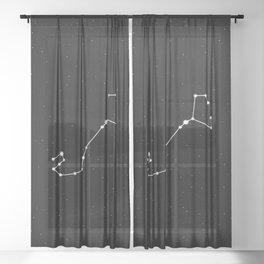 Scorpio Star Sign Night Sky Sheer Curtain
