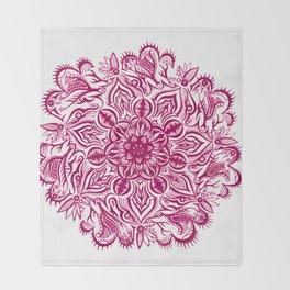 Under the Sea-Magenta Throw Blanket