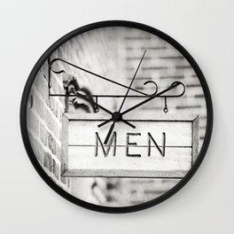 Men Bathroom Sign, Men's Restroom Wall Clock