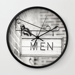 Men Bathroom Sign, Men's Restroom Wall Clock
