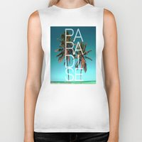 paradise Biker Tanks featuring PARADISE by Chrisb Marquez