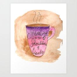Watercolor Science Coffee Mug Art Print