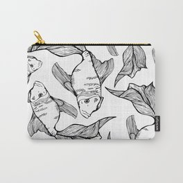 Sea-life Collection - FishTank, Black & White Carry-All Pouch