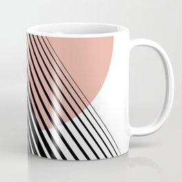 Rising Sun Minimal Japanese Abstract White Black Rose Coffee Mug