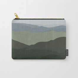 Green Mountainscape Carry-All Pouch