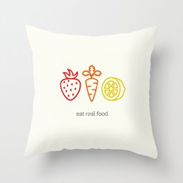 Eat Real Food. (light) Throw Pillow