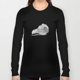 Barn Owl Skull Long Sleeve T-shirt