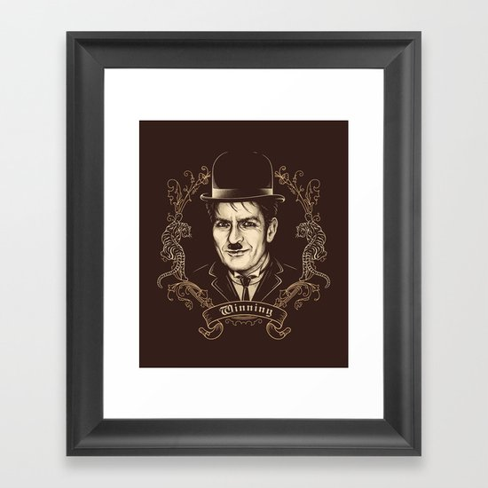Sir Charlie Framed Art Print