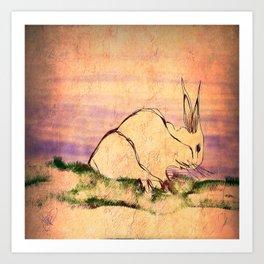 Le Lapin Art Print