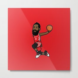 JamesHarden Icon Metal Print