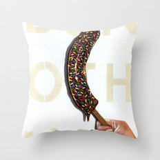 DO NOTHING Frozen Banana with sprinkles   Throw Pillow