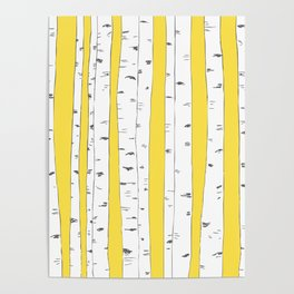 Aspen Forest - Yellow Poster