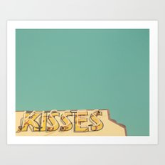 Kisses Art Print