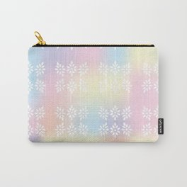Holographic pastel leaf pattern Carry-All Pouch