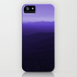 Violet Scenic View of Blue Ridge Mountains Georgia  iPhone Case