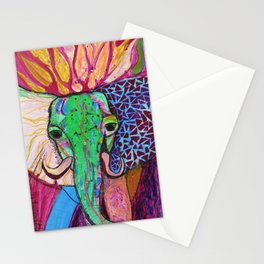 Elephant of Power Stationery Cards