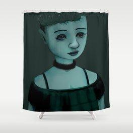 Night Girl II Shower Curtain