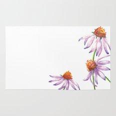 Watercolor Purple Cone Flower Rug
