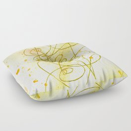 Golden Dream Floor Pillow