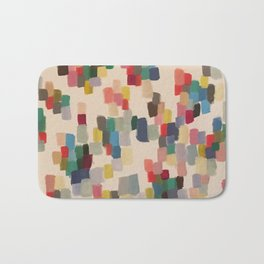 Colorful happy cheerful abstract painting Bath Mat