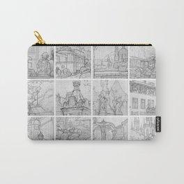 Prague sketches by David A Sutton. 18 piece horizontal. sketchbookexplorer.com Carry-All Pouch