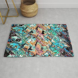 Colorful Distortions Abstract Rug