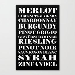 WINES Canvas Print