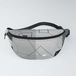 Gray Geometry 3 Fanny Pack