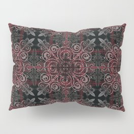 Floral08 Burgundy Red Pillow Sham
