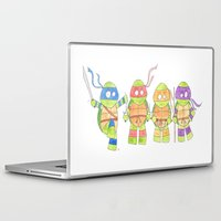 ninja turtles Laptop & iPad Skins featuring Ninja Turtles by Icameisawiateit