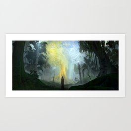 Two trees of Valinor Art Print