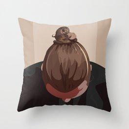 Man I Like Your Bun Throw Pillow