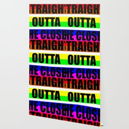 straight outta the closet funny gay pride saying Wallpaper