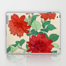 Red dahlias Laptop & iPad Skin