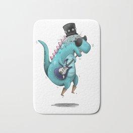 Rockstar Dino Illustr Bath Mat