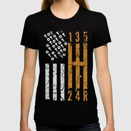Manual gearbox transmission USA driver gift T-shirt