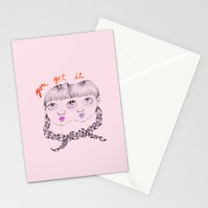 You get it Stationery Cards