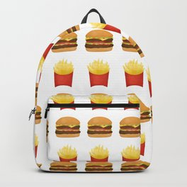 Burgers and Fries Pattern Backpack