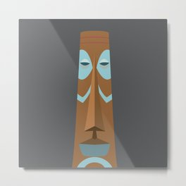 Striped Tiki Metal Print