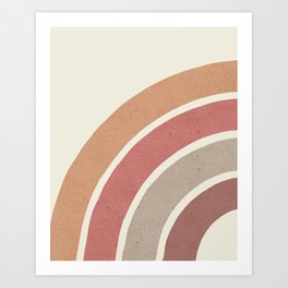 Abstract rainbow 1 Art Print