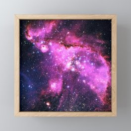 Pink Galaxy Framed Mini Art Print