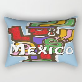 Mexico Aztec or Mayan Travel Rectangular Pillow