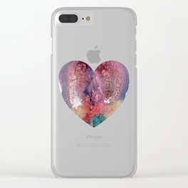 Remedy Sky's Heart Shaped Vulva Clear iPhone Case