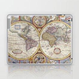Vintage Map with Stars Laptop & iPad Skin